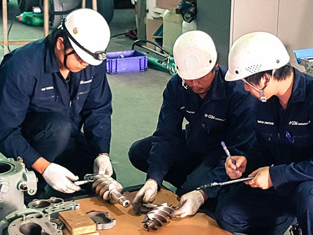 Repair and check Air Compressor
